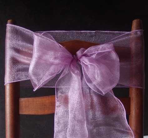 lavender organza chair sashes bows table runners 6
