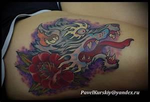 wolf tattoo by PavelKurskiy