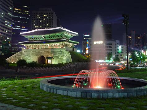 pemandangan kota seoul korea selatan gambar pemandangan