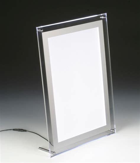led light box slim light box countertop or wall mount frame