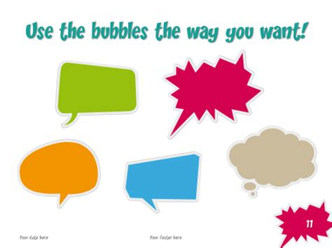 Thought Bubble Powerpoint Template by Speech Bubbles Free Template For Powerpoint And Impress