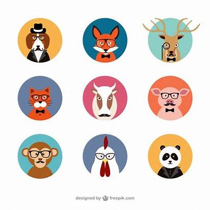 Animal Avatars Vector Avatar Animals Cartoon Business