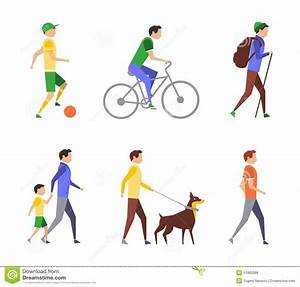 Active People, Lifestyle, Healthy Life Stock Vector ...  Active