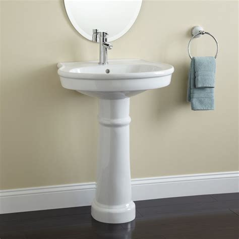 therese pedestal sink small bathroom making a home