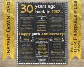 30th wedding anniversary 30th anniversary 30th anniversary sign 30th anniversary decor by mishmashbyash etsy