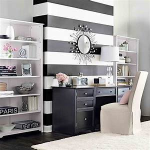 Papier Peint Rayé Noir Et Blanc : papier peint original en 50 id es magnifiques ~ Dailycaller-alerts.com Idées de Décoration