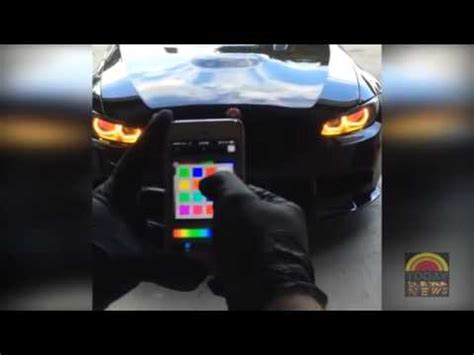 headlight color changer bmw color changing headlights bmw gets modified lights