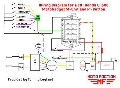 Ducati Led Light Wiring Diagram by Here S A Wiring Diagram For The Motogadget M Unit And M