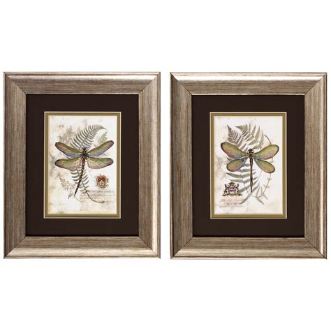 wayfair kitchen wall decor august grove dragonfly i and ii framed painting print
