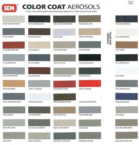 automotive paint color wheel sem aerosol paint codes revised color wheel nastyz28