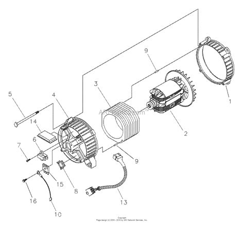 Generator Stator Wiring Diagram by Briggs And Stratton Power Products 1799 0 580 326300