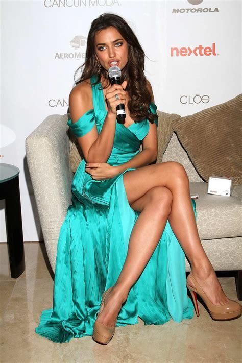 Irina Shayk Leggy at Cancun Moda Nextel Event in Mexico ...