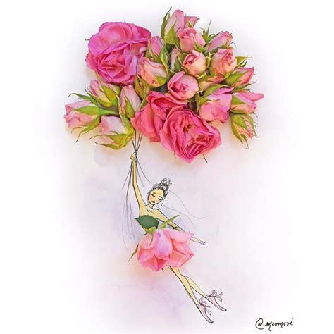 flowers veggies  create fashion illustrations