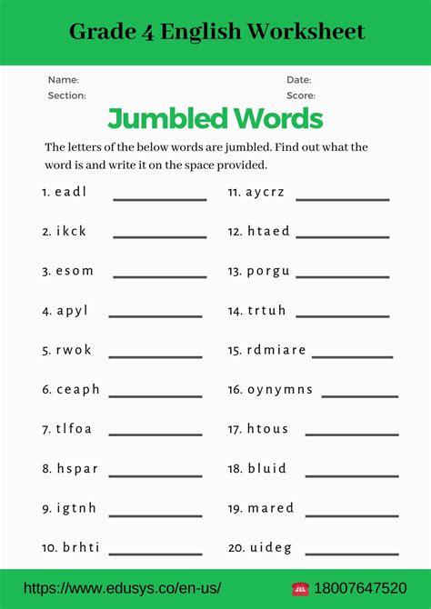 grade english vocabulary worksheet pdfnithya db