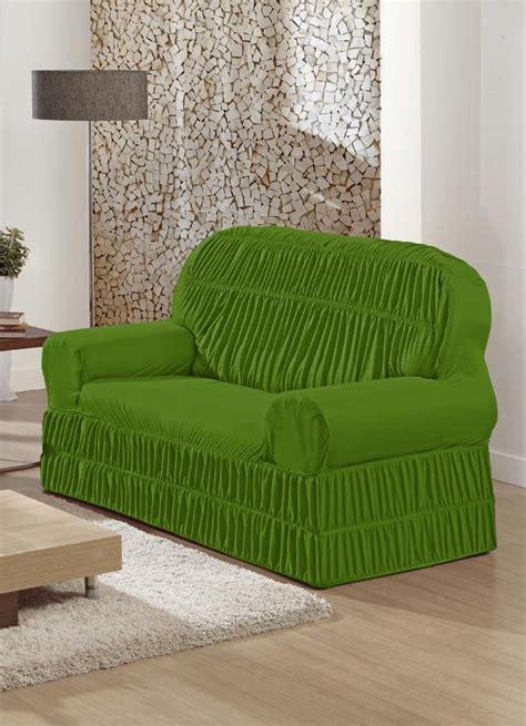 sofá 2 lugares verde capa de sof 225 2 lugares verde posthaus