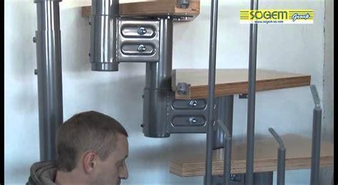 montage d un escalier modulaire 1 4 tournant eureka sogem