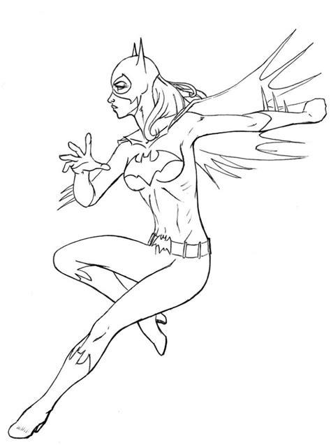 printable batgirl coloring pages  kids