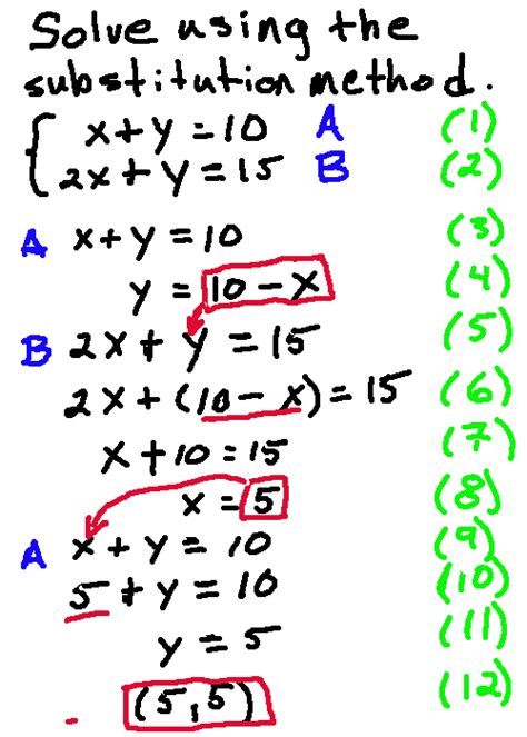 Solve A System Of Equations With 2 Variables  Algebra And Geometry Help