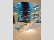 Amazing Staircase with Large Cylinder Aquarium by Diapo