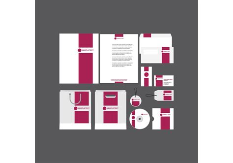 bold pink company profile template   vector
