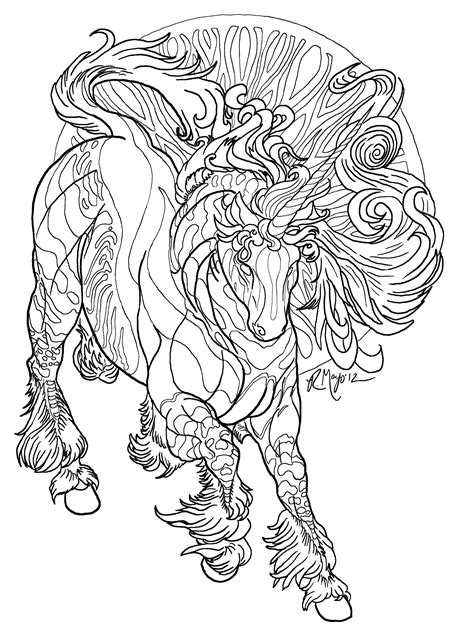 realistic unicorn coloring pages coloring home