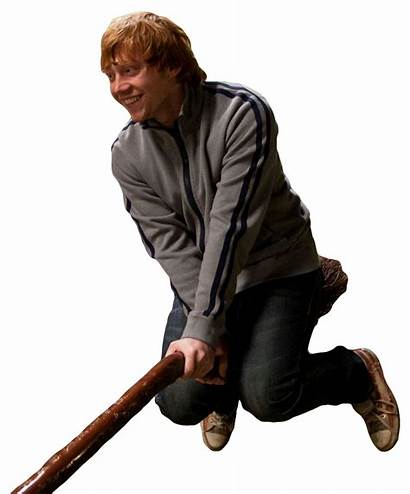 Ron Weasley Transparent Broomstick Broom Riding Clipart