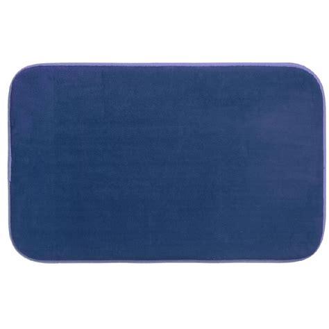 tapis de bain microfibre 224 m 233 moire de forme 80x50 cm bleu maison fut 233 e