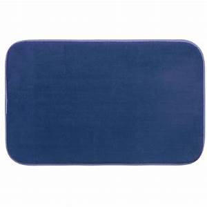 tapis de bain microfibre a memoire de forme 80x50 cm With tapis de bain memoire de forme