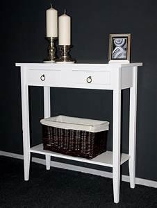 Telefontisch Weiß Hochglanz : telefontisch konsolentisch wandtisch beistelltisch flurtisch wei massiv holz ~ Markanthonyermac.com Haus und Dekorationen