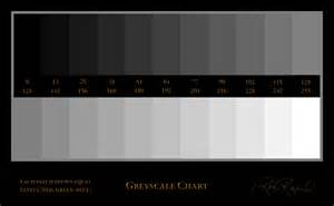 Grayscale Color Chart