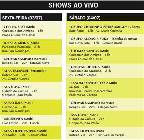 Os shows pela cidade neste fim de semana - Tribuna Feirense