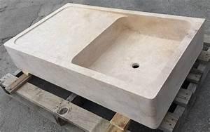 Evier Cuisine En Pierre : vasque vier cuve en travertin montpellier h rault 34 ~ Premium-room.com Idées de Décoration