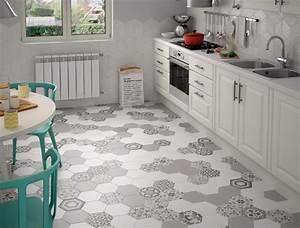 Renovation Carrelage Sol Cuisine : carrelage cuisine hexagonal ~ Edinachiropracticcenter.com Idées de Décoration