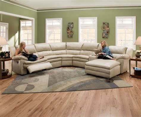Leather Round Sectional Sofa