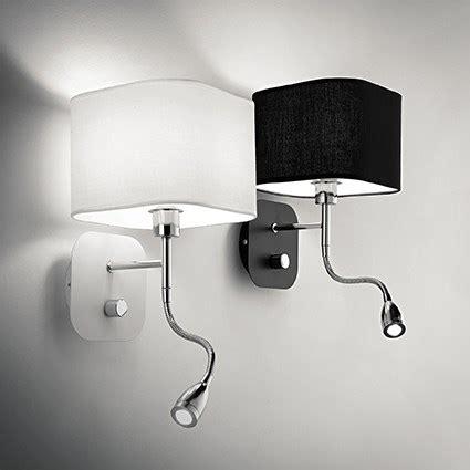 eclairage chambre a coucher led applique pour éclairer une tête de lit avec liseuse à led