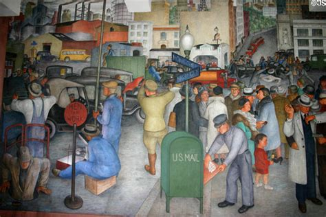 city life mural by victor arnautoff in coit tower san