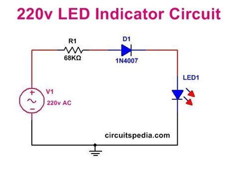 Led Indicator Circuit For Mains Simple