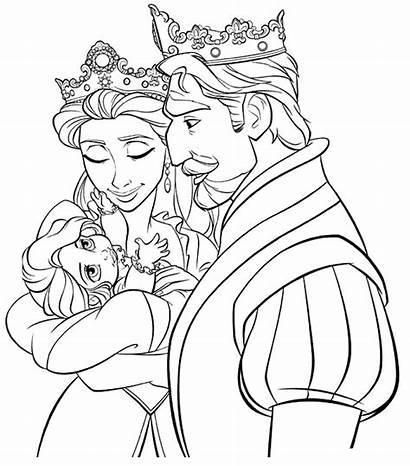 Tangled Pages Coloring Printable Rapunzel Colouring Disney