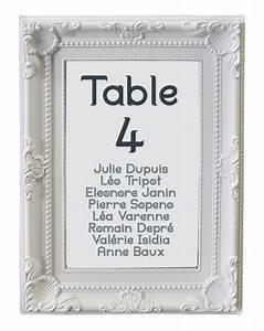Acheter Cadre Photo : marque table mariage cadre baroque blanc marque table ~ Teatrodelosmanantiales.com Idées de Décoration
