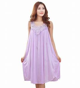 Summer sexy long silk nightgowns nightdress for women plus ...