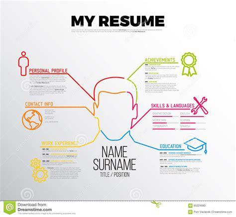 Original Cv Template by Original Cv Resume Template Stock Vector Image 65224580
