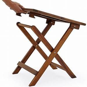 Table Jardin Pliable : table basse pliante en bois tables jardin d 39 appoint 46x46cm pliable acacia ~ Teatrodelosmanantiales.com Idées de Décoration