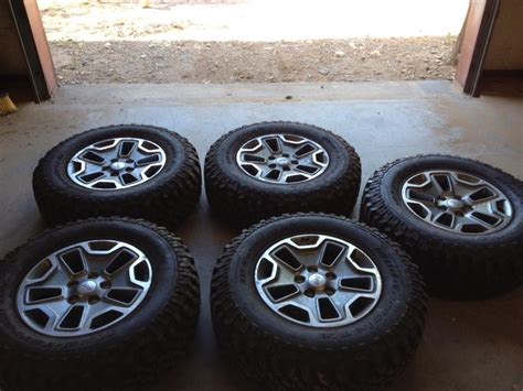 stock jeep wheels and tires for sale jeep jk 5x5 bolt oem rubicon wheels and stock