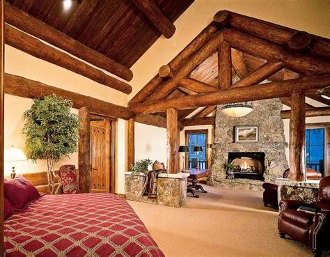 Extreme Log Home Master Bedrooms