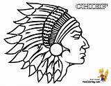 Coloring Indian Pages Chief Cowboy Native American Printable Warrior Cherokee Indians Colouring Headdress Drawing Sheets Head Cowboys Cool Thanksgiving Template sketch template