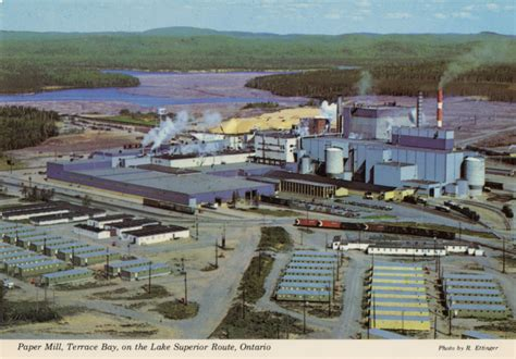 terrace bay ontario colour post card of terrace bay mill the gateway to