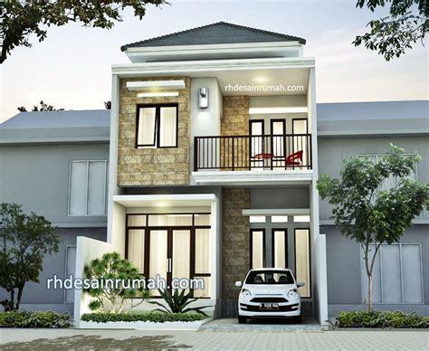 desain rumah minimalis  tampak depan contoh fasade