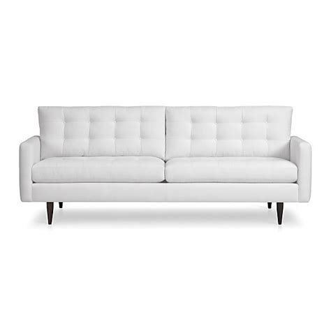 crate and barrel petrie leather sofa living with grace november 2012