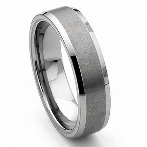corsal tungsten carbide satin men39s wedding ring With mens tungsten wedding rings