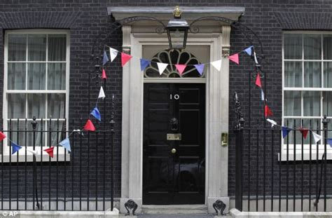 Royal Wedding bunting: David Cameron and Downing Street